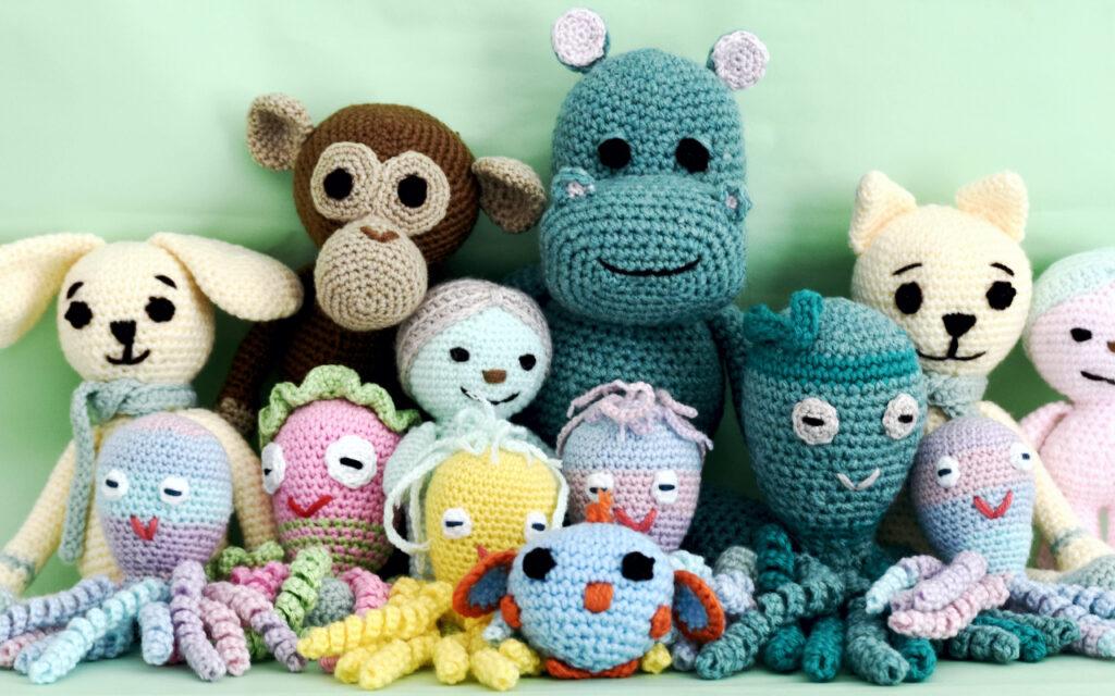 cómo lavar un amigurumi. Ganchillo amigurumis peluches japoneses animales pulpos buhos monos conejos ratón hipopótamo muñecas