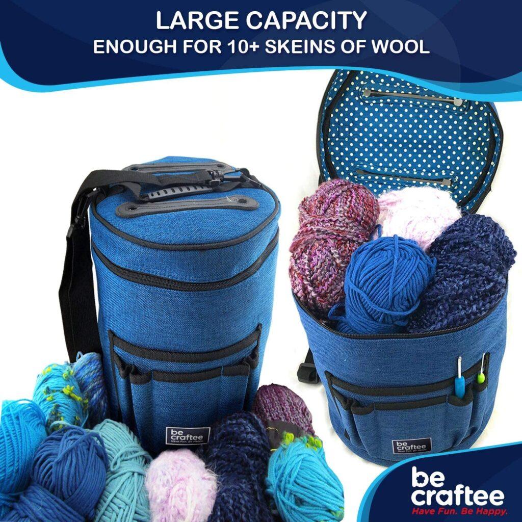bolsa de costura bolsa organizadora agujas de ganchillo bolsa para lana y agujas bolsa organizadora de labores bolsa organizadora para guardar hilos labores de punto crochet
