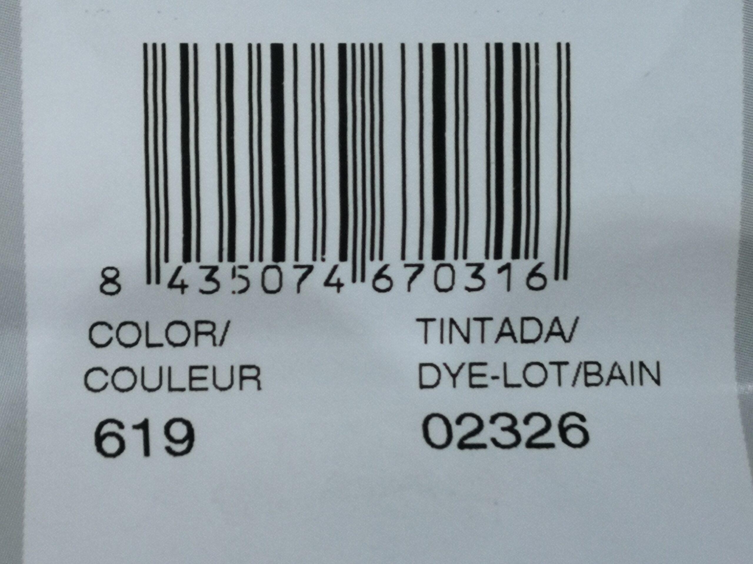 número de color y código de tintado