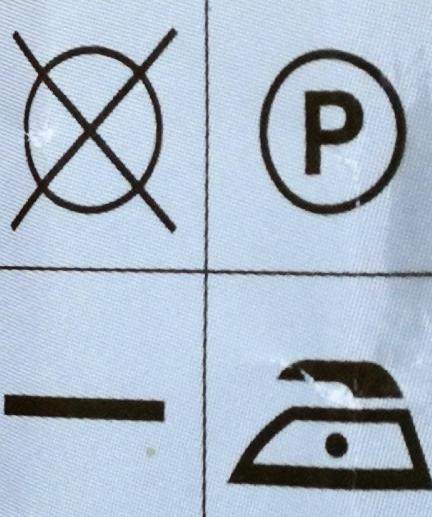 Instruciones de lavado y cuidado de una prenda