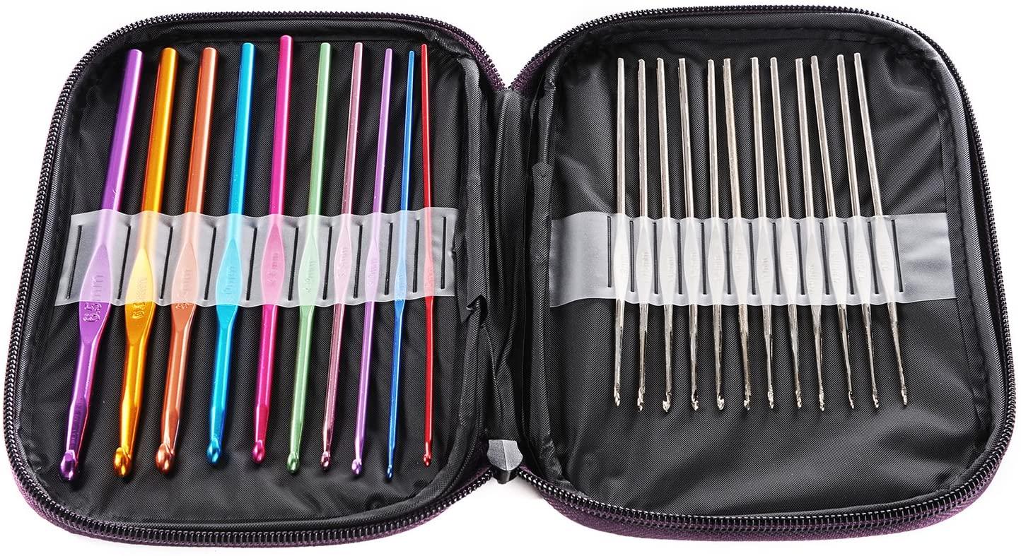 set de agujas de crochet conjunto de ganchos para crochet