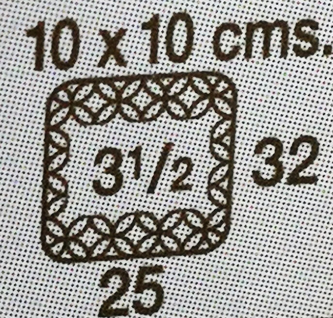 etiqueta de lana tensión de puntos de crochet