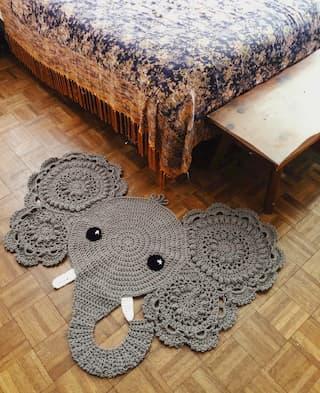 elefante tapiz de ganchillo
