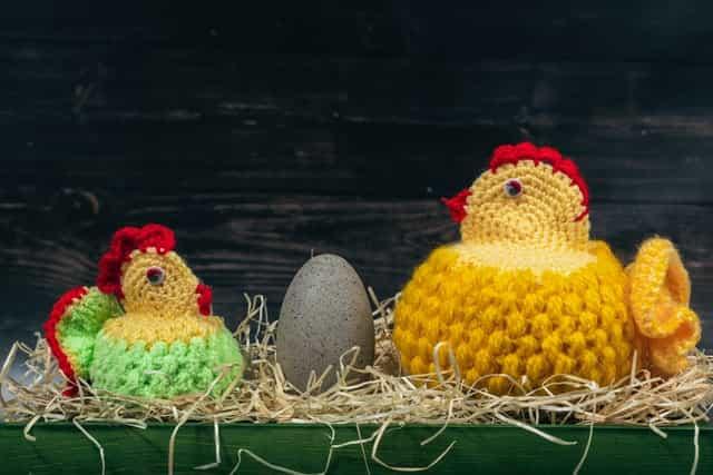 Hilos para amigurumis baratos: tipo de hilo para hacer amigurumis, gallina y polluelo de ganchillo, flores de ganchillo, diadema crochet
