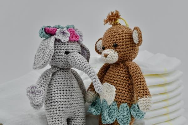 elefante y oso en crochet