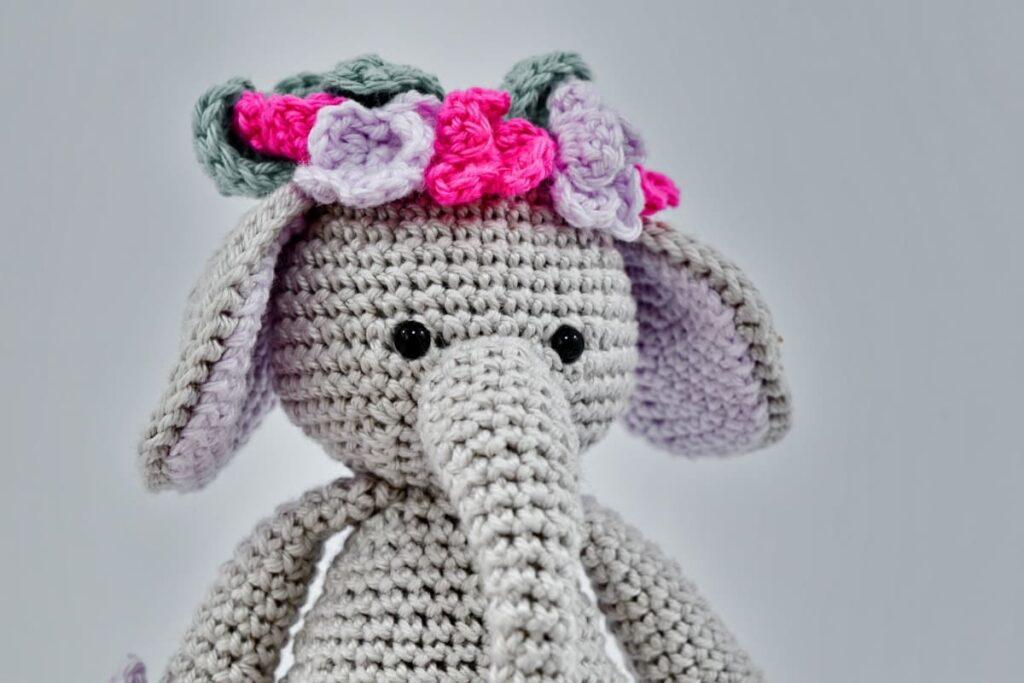 elefante amigurumi a crochet