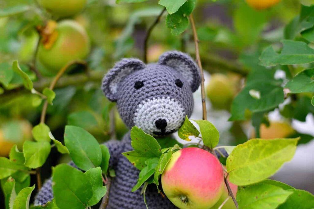 animales amigurumis: oso a ganchillo