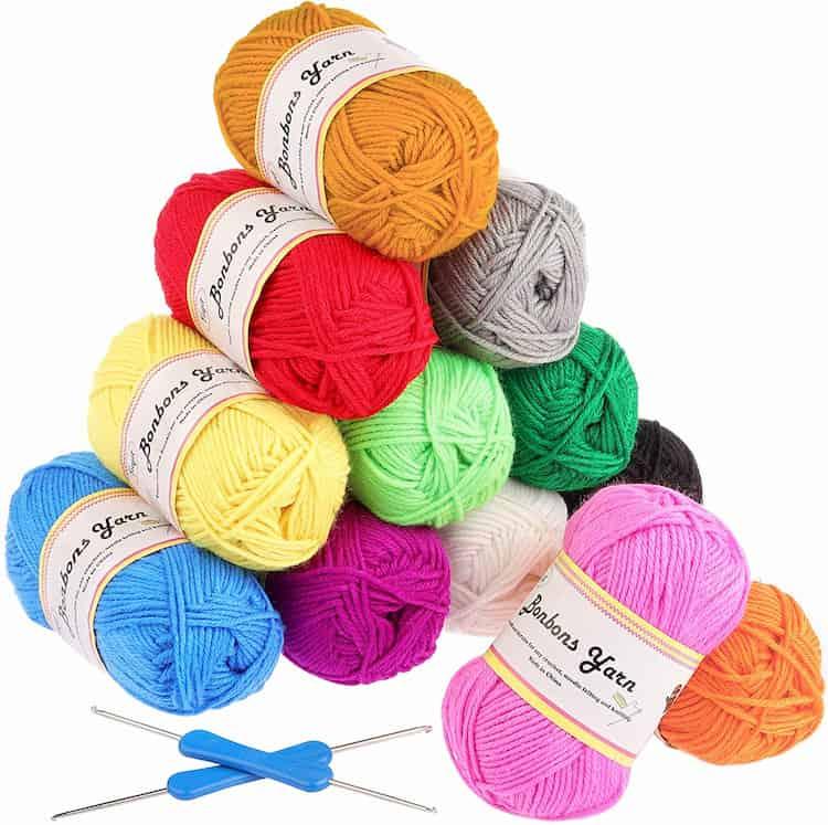 lana multicolor para ganchillo