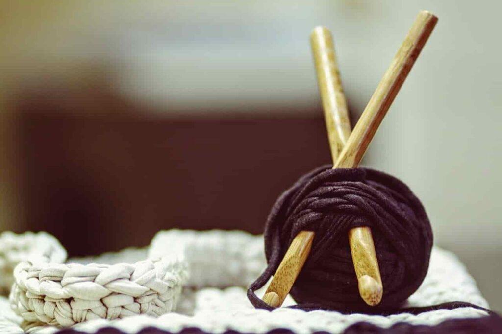 ganchillos de madera, aguja de mango de bambú, agujas en madera de bambú, agujas de ganchillo de bambú